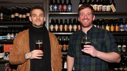 The Beer Shop joint owners John Gudgin and Ben Hudson.