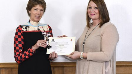 Sally Sloane received The Order of St John UK Award for Organ Donation on behalf of her father-in-la