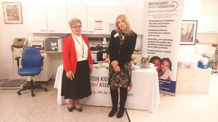 Sandy Lines and Fiona Loud of the British Kidney Patient Association