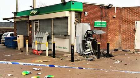 The scene of the explosion. Picture: Clive Porter