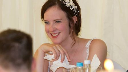 Hitchin's Laura Borrell, pictured on her wedding day in August 2011, is trying to make memories whil