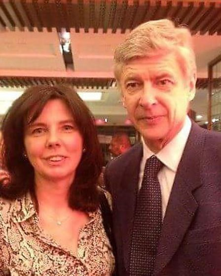 Helen Bailey, pictured with Arsene Wenger, was an avid Arsenal supporter.