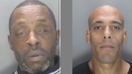 Michael Rowe (left) and Rikki Banks, both from Stevenage, are wanted in connection with separate sho