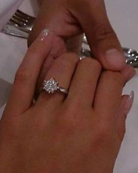 Hayley Cleaver was overjoyed when she was reunited with her lost engagement ring.
