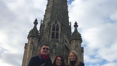 Mark, Carol and Correne climbed up St Mary's Church to see the view