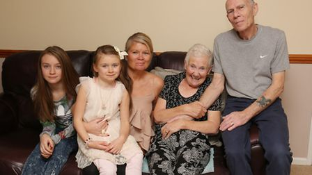 Tigerlily, 12, Daisy Rose, 6, Trudy Bowden and Sue and Keith Stevens are searching for a special ste