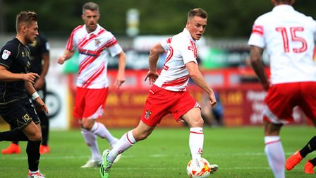 Tom Conlon won't be rushed back from his ACL injury says Stevenage manager Darren Sarll. Picture: HA