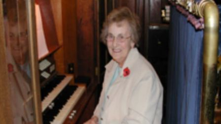 Vera Thrussell has played the organ at Pirton Methodist Church since 1937, when she was 15.