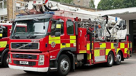 Firefighters from Beds Fire and Rescue Service attended the scene.