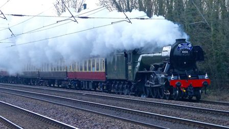The Flying Scotsman heading through Arlesey. Picture: Christopher Baker