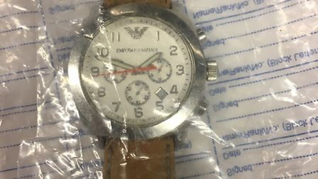 This watch recovered at the scene may belong to the victim