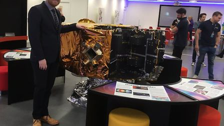 North Herts College principal Matt Hamnett at the new Airbus Foundation Discovery Space STEM Centre