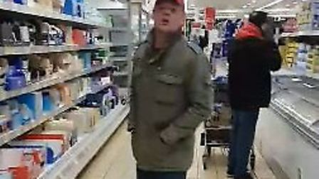 Marta and her family were subjected to racial abuse by this man in Stevenage's Aldi supermarket on W
