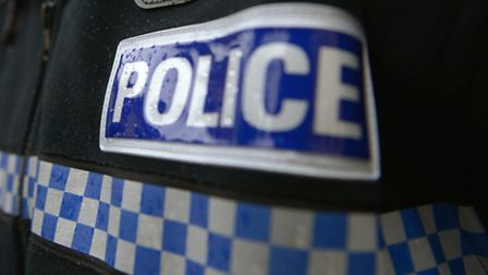 A cyclist was pushed off his bike in Stevenage yesterday evening..