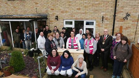 Just some of the Give Back To Stevenage volunteers who worked on the house.