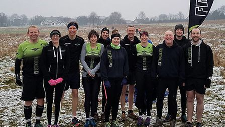 Freedom Tri's runners in Royston
