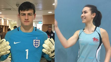 Sporty siblings Tom Smith, 15, and Hayley Smith, 20, from Letchworth. Tom is pictured before he play