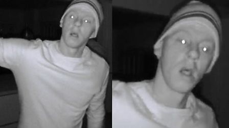 Police want to speak to this man in connection with burglaries in North Herts.