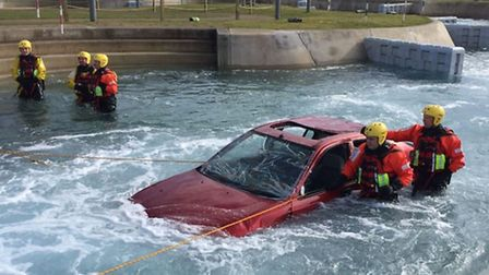Hitchin firefighters practice saving lives. Credit: Longfield TDC