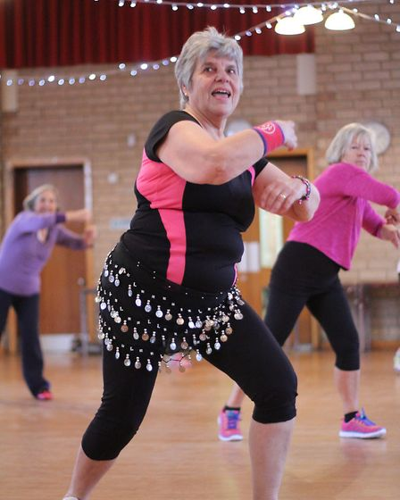 The classes are a good way of keeping fit but there is also a social side.