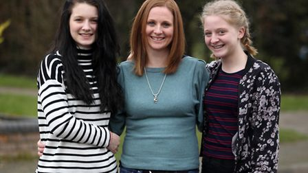 Sarah Cummins, last year's Parent in a Million category winner, with her daughters Eloise Pesci and