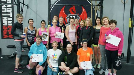 Fitness coach Conor Turner's bootcamp class at The Hub Letchworth.