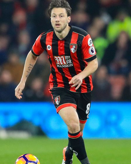 Harry Arter playing for AFC Bournemouth. Photo: Adam Davy/PA Wire.
