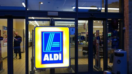 The Aldi store is at Fairlands Way in Stevenage.