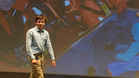 Teenage sailor Ben Edwards talks about his Arctic expedition at St Christopher School in Letchworth.