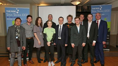The speakers from the Twin Towns 1000 business breakfast.