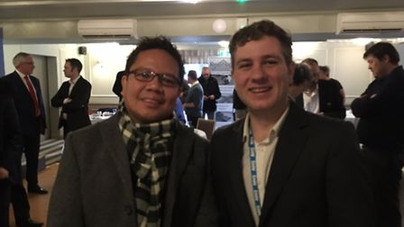 Riz Tibio and Sam Skipp from the Lister Hospital also attended the event.
