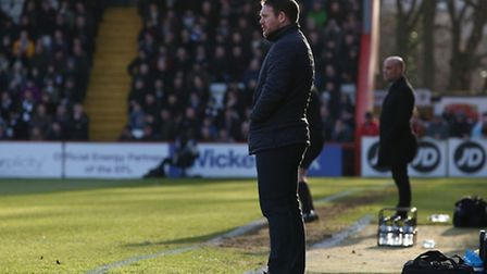 Darren Sarll has been reflecting on a year in charge at Stevenage. Picture: DANNY LOO