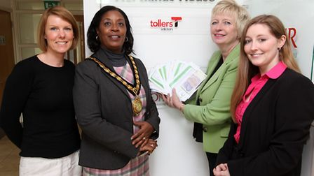 Stevenage community pillar Sherma Batson, pictured during her time as mayor. Here she is pictured wi