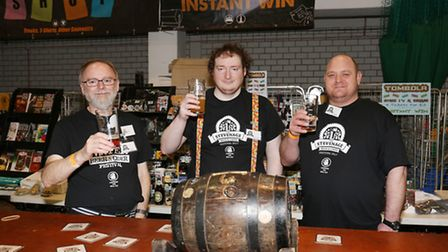 Volunteers on the tombola at the Stevenage Beer and Cider Festival 2017.
