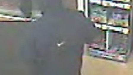Do you recognise this man? Police have released this CCTV image after an armed robbery at the Co-op