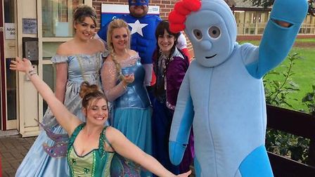 Volunteers from Feel Good Factor, now called Community Spirit, dressed up to entertain youngsters in