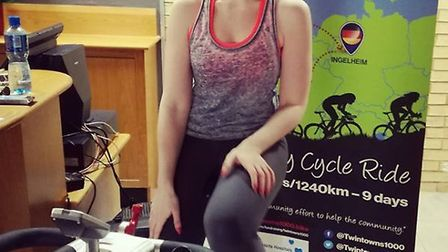 Sporty Jude Crisp completed an amazing 11 hours on a bike to help raise money for TT1K.
