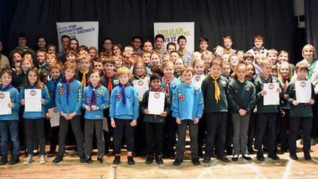 Hitchin scouts and beavers celebrate their success