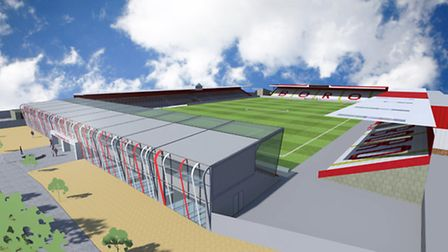 One image of what the North Stand could have potentially looked like. Picture: Stevenage FC