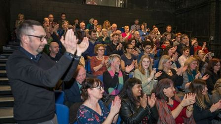 Ken Loach audience applause. Credit Kasia Burke