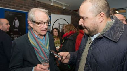 Ken Loach with Layth Yousif. Picture credit: Kasia Burke
