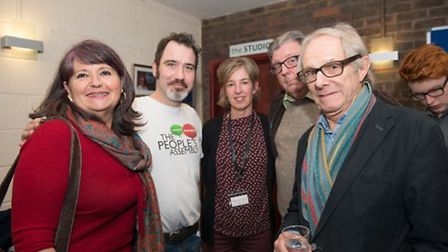 Ken Loach with audience. Credit Kasia Burke
