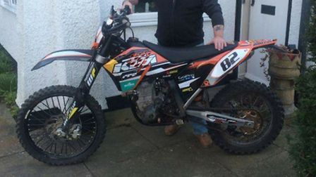 Have you this KTM dirt bike? It was stolen earlier this month after a shed was broken into in Letchw