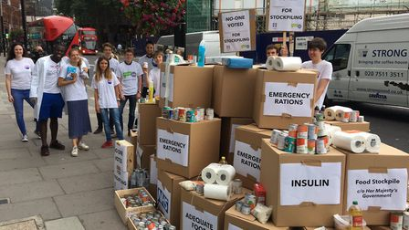 Our Future, Our Choice help with the no-deal stockpiling efforts. Photograph: OFOC/Twitter