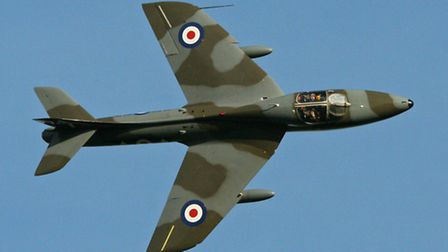A Hawker Hunter like the one that crashed at Shoreham