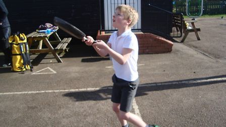 Kids got the chance to show off their flipping skills in Sandon.