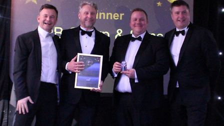 DB Sharp and Sons celebrate at the Hertfordshire Building and Construction Awards.