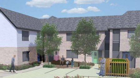 Artist's impression of the new council built homes at Archer Road Stevenage.
