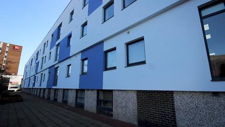Private flats have recently been completed opposite the Tesco store in Stevenage town centre.