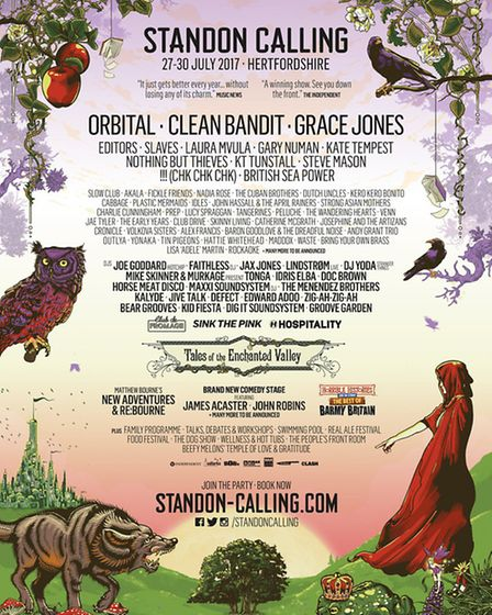 Standon Calling 2017 line-up poster
